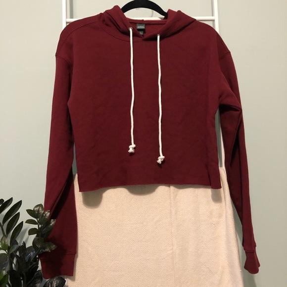 Wild Fable Cropped Red Hoodie Sweatshirt